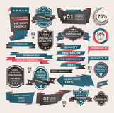 Set Of Vintage labels ribbon , retro style . desig Royalty Free Stock Photos