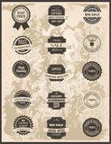 Set of vintage Labels, Ribbons, Sticker and Badges Stock Images