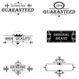 Set vintage. Set labels vintage satisfaction guaranteed collection Royalty Free Stock Photography