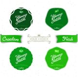 Set vintage labels on the theme of nature Stock Images