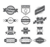 Set of vintage  labels in white Stock Images