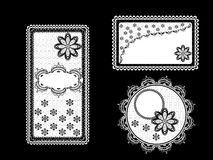 Set of vintage lace backgrounds with frame Royalty Free Stock Photography