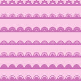 Set of vintage lace borders. Royalty Free Stock Image
