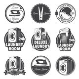 Set of vintage laundry emblems. Labels and designed elements Royalty Free Stock Image