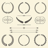 Set of vintage laurel wreaths. Stock Photography