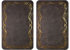 Set of vintage leather covers for books. 05 Royalty Free Stock Photography