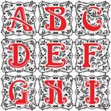 Set vintage letter part 1 Stock Photos