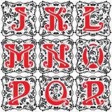Set vintage letter part 2 Royalty Free Stock Image