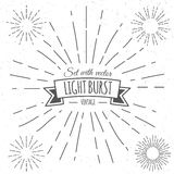Set with vintage light burst. Vector illustration. EPS 10 Stock Photos