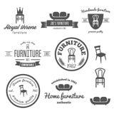 Set of vintage logo, badge,emblem and logotype Royalty Free Stock Photography
