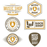 Set of vintage logo, badge, emblem or logotype Stock Photography