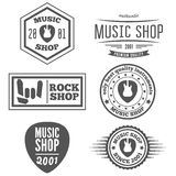 Set of vintage logo, badge, emblem or logotype Royalty Free Stock Photo