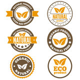 Set of vintage logo, label, badge, logotype Royalty Free Stock Photo