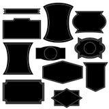 Set of vintage logo shapes stock illustration