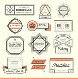 Set of vintage logos, badges and labels Stock Photography