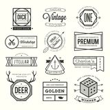 Set of vintage logos, badges and labels Royalty Free Stock Photography