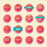 Set of vintage logos, badges and labels, vector Stock Image
