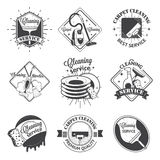 Set of vintage logos, labels and badges cleaning Royalty Free Stock Photography