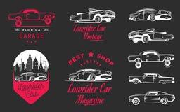 Set Vintage Lowrider Logo Badge and Sign Stock Image