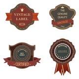 Set of vintage luxury retro labels templates. Royalty Free Stock Image