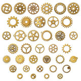 Set of Vintage Mechanical Cogwheel Gears Wheels Royalty Free Stock Images