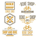 Set of vintage and modern bicycle shop logo badges Royalty Free Stock Photos