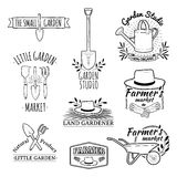 Set of vintage monochrome retro logos, badges royalty free illustration
