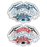 Set of vintage mountain climbing labels Royalty Free Stock Images