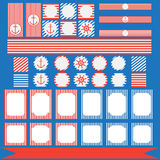 Set of vintage nautical party elements Stock Images