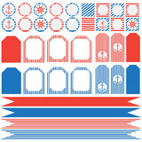Set of vintage nautical party elements Royalty Free Stock Image