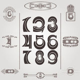 Set of vintage numbers Royalty Free Stock Photo