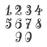 Set of Vintage Numbers Royalty Free Stock Photos