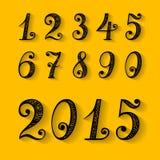 Set of Vintage Numbers. Vector Set of Vintage Numbers Stock Images