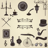 Set of vintage objects Royalty Free Stock Photos