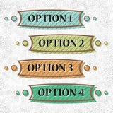 Set of vintage options. Vintage options infocraphics for your business vector illustration