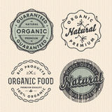 Vector set vintage organic labels Stock Photo