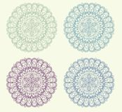 Set of vintage ornament background vector Royalty Free Stock Photos