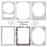 Set of vintage ornamental borders. Stock Photo