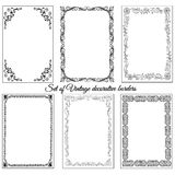 Set of vintage ornamental borders. Stock Images