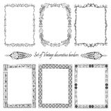 Set of Vintage  ornamental borders.(set 8). Decorative vintage borders with ornaments Royalty Free Stock Image