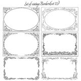 Set of Vintage  ornamental borders.(set 13). Decorative vintage borders with ornaments Stock Images