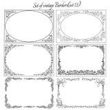 Set of Vintage ornamental borders.(set 13). Decorative vintage borders with ornaments royalty free illustration
