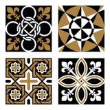 Set of Vintage Ornamental Patterns. Vector Set of Vintage Ornamental Pattern Tiles Royalty Free Stock Image