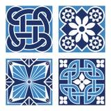 Set of Vintage Ornamental Patterns. Vector Set of Vintage Ornamental Pattern Tiles Stock Photography