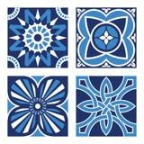 Set of Vintage Ornamental Patterns. Vector Set of Vintage Ornamental Pattern Tiles Royalty Free Stock Photos