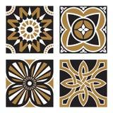 Set of Vintage Ornamental Patterns. Vector Set of Vintage Ornamental Pattern Tiles Stock Image