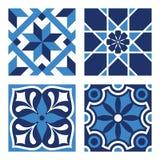 Set of Vintage Ornamental Patterns. Vector Set of Vintage Ornamental Pattern Tiles Royalty Free Stock Photo