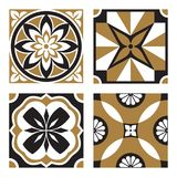 Set of Vintage Ornamental Patterns. Vector Set of Vintage Ornamental Pattern Tiles Stock Photo