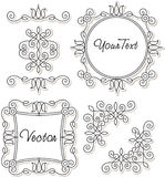 Set vintage ornaments and frames Stock Photo