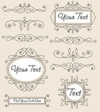 Set vintage ornaments and frames Stock Photography